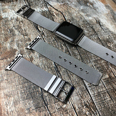 For Apple Watch Series 4 44mm Stainless Steel Replacement Strap Milanese Mesh