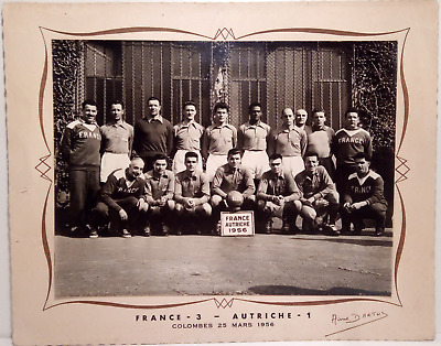 Très belle photo d'époque, Equipe de France 1956, Football ancien, Dartus. 24x32