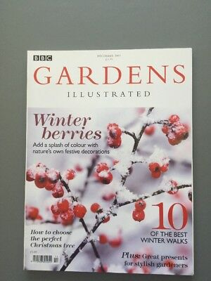 GARDENS ILLUSTRATED December 2007 - No 132 - Winter Berries, Xmas
