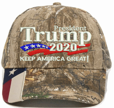 Donald Trump President Trump 2020 Keep America Great 2020 Realtree TEXAS FLAG