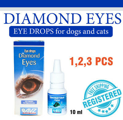 1, 2, 3 pack of Diamond eyes Eye drops for cats and dogs pet hygienic treatment