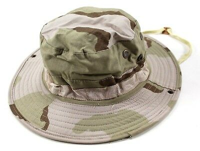 US Military 3 Color Desert Camo Boonie Jungle Hat DCU Type ll Size Medium 50f9b8378a04