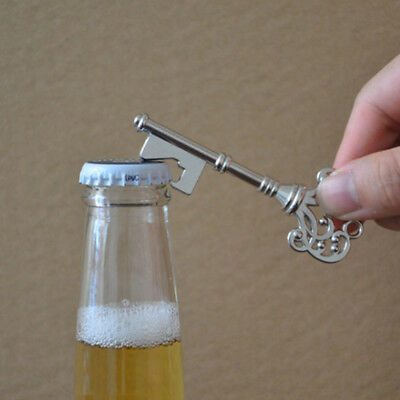 1x New Key Shaped Bottle Opener Ring Keyring Keychain Metal Beer Party Bar Tool