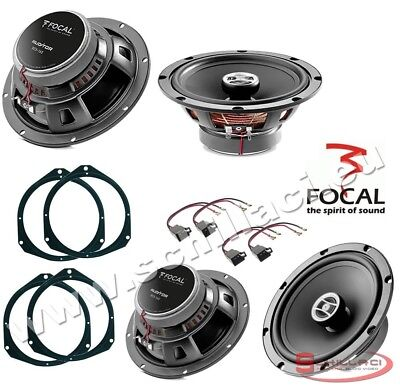 Sound Way Spacer Rings adapters and Harness kit for 6.5 inch 165 mm Speakers for Fiat Lancia Alfa Romeo Vauxhall Ford Peugeot Citroen
