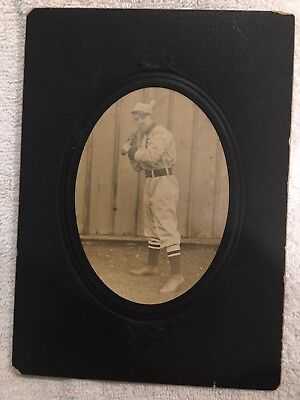Antique Baseball Photo Late 1800s-early 1900s w/Ghostly Image On Back! Must See!