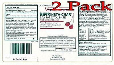 KERR Insta-Charcoal Suspension, 25GM, Cherry Flavor, 2 Pack 066689203088C2451