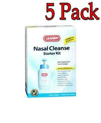 Leader Nasal Cleanse Starter Kit, 5 Pack 096295119473C599
