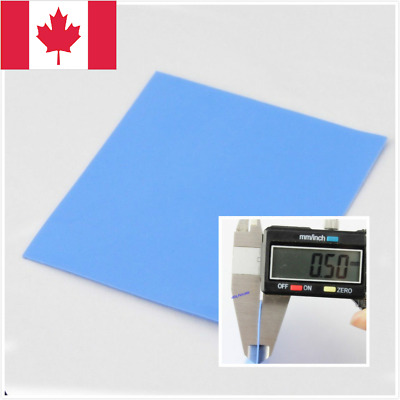 100mmx100mmx 0.5mm  Heatsink Thermal Conductive Silicone Pad for GPU CPU. Canada