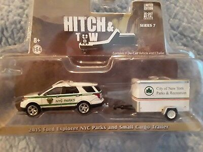 Greenlight 1 64 Hitch Tow 7 2015 Ford Explorer Nyc Parks
