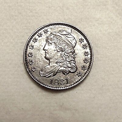 1831 Capped Bust Half Dime - Choice AU/UNC Coin - FREE SHIPPING