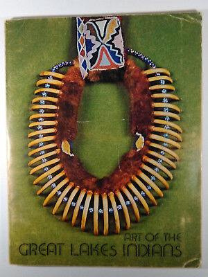 1973 Art of Great Lakes Indians Quill Moosehair Clothing Pipes Ribbonwork Photos