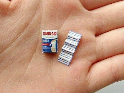 Dollhouse Miniature 1:12 Scale Handmade Bathroom Band-Aid Medical Bandages Set