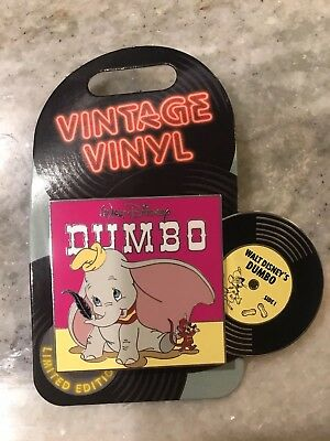 Disney Pin LE 3000 Vintage Vinyl Pin Of The Month Dumbo January 2019