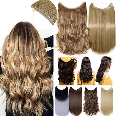 Hidden Halos Invisible Wire Hairpiece Secret Miracle Real Thick Hair Extensions
