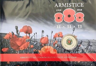 2018 NEW ZEALAND ARMISTICE Poppy NZ 50 cent Commemorative Collectible Coin Pack
