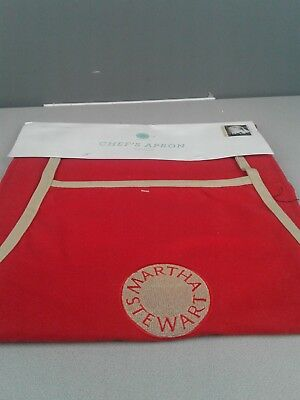 Martha Stewart red chef's apron still In packaging