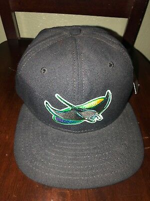 Tampa Bay Devil Rays MLB Vintage New Era Black Wool Snapback Cap Hat Pro  Model 755617125acb