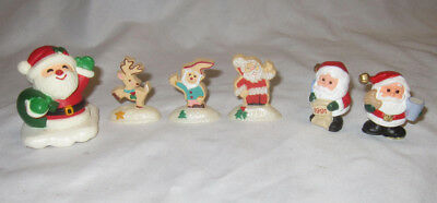 Hallmark Merry Miniatures Asst Lot of 6 Cookie Santa's etc 1991  AA
