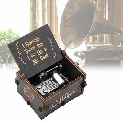 Harry Potter Music Box Wooden Gift Interesting Toys Engraved Hand Cranked Crafts