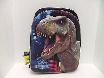 "Jurassic World 16"" Kids Puffed Backpack - Black/Blue"