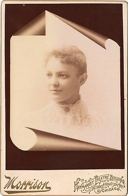 RARE BLACK AFRICAN AMERICAN? Named Cabinet Card 1890's Vintage Photo (H148)