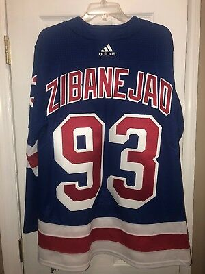 d11011a29 Mika Zibanejad 46 NEW YORK RANGERS HOME BLUE ADIDAS AUTHENTIC JERSEY Pro  Stitch