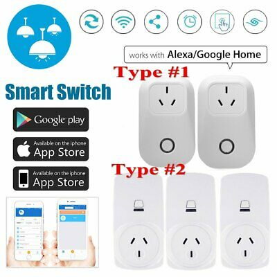 Wireless Wifi Smart Power Socket Outlet Switch APP For ECHO ALEXA GOOGLE HOME AU