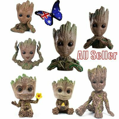 Guardians of The Galaxy Vol. 2 Baby Groot Action Figure Flowerpot Pen Pot Toy VW