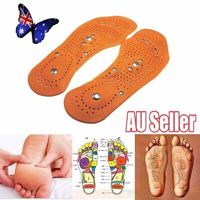 Acupressure Magnetic Massage Weight Loss Therapy Slimming Insoles VW