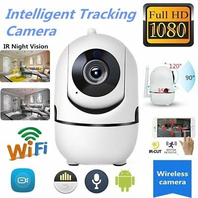 Wireless Smart IP WiFi HD IR Cut Home Security Camera 1080P 2 Way Audio Monitor