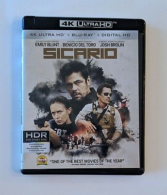 Sicario (4K Blu-ray, 2016) No Digital Code