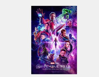 Avengers 4 Movie Poster 2019 The End Game Captain Marvel -20x30 24x36 48x32 Y-73