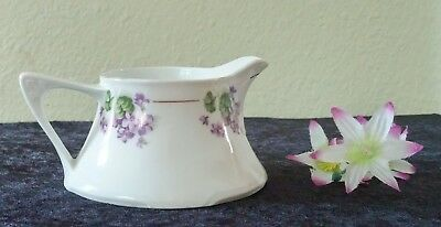 Antique Floral Creamer by Z.S. & Company, Bavaria; Late 1800's/Early 1900's