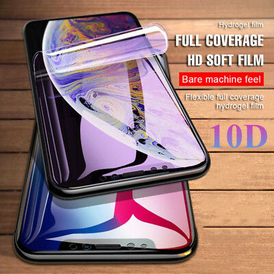 10D Full Screen Protector Hydrogel Film For iPhone 11 Pro Max XS XR X 8 7 6 Plus