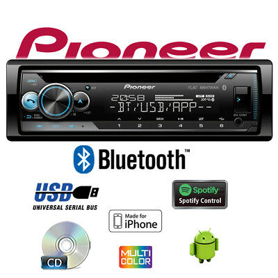 Mercancía B k Pionero DEH-S510BT - Bluetooth Spotify CD USB Android Iphone