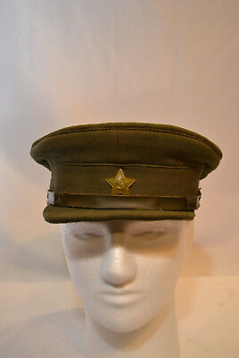 Original Wwii Russian Field Khaki Red Army Officer's  Visor Hat Cap 1937 Made