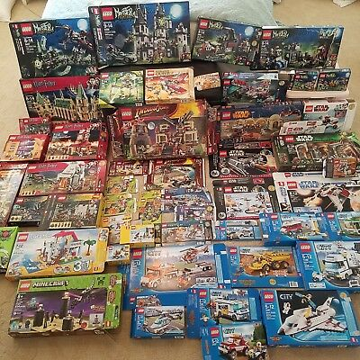 HUGE LEGO LOT! ☆ Star Wars ☆ Harry Potter ☆ Minecraft ☆ Minifigs ☆ Boxes +MORE!