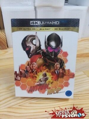 ANTMAN and the WASP 4K , 3D and normal Bluray ALL 3 EDITIONS IN 1 FULLSLIP KOREA