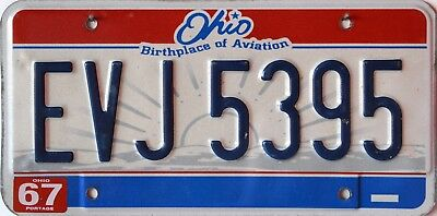 USA Number Licence Plate OHIO BIRTHPLACE OF AVIATION