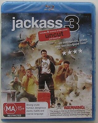 Jackass 3  (Blu-ray, 2011) UNCUT....BRAND NEW AND SEALED BLURAY