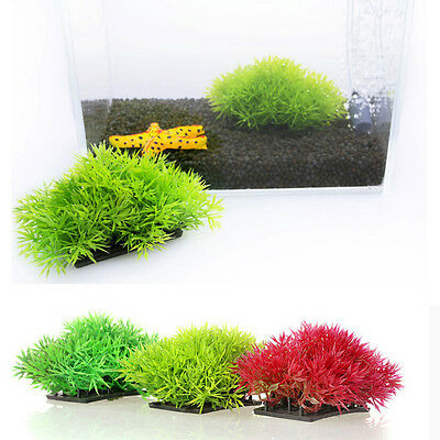 Artificial Fake Water Aquatic Green Grass Plant Lawn Decor Aquarium Fish Tank _K