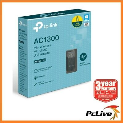 TP-Link Archer T3U 1300mbps Dual Band 5Ghz Wireless USB 3.0 Adapter WIFI AC 1300