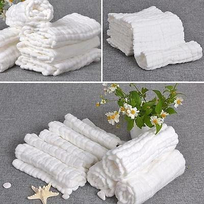 Baby Newborn Cotton Gauze Diapers Toddler Care White Nappy Comfort Diaper YI