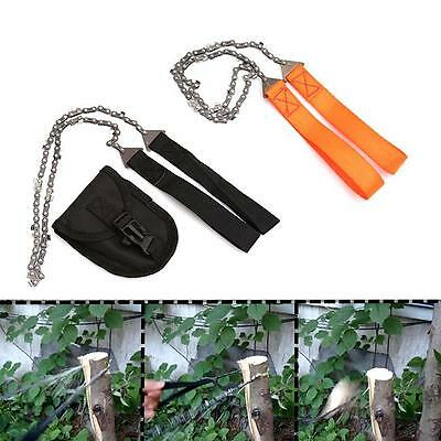 Survival Chain Saw Hand ChainSaw Emergency Camping Hiking Gear Pocket Tool YI