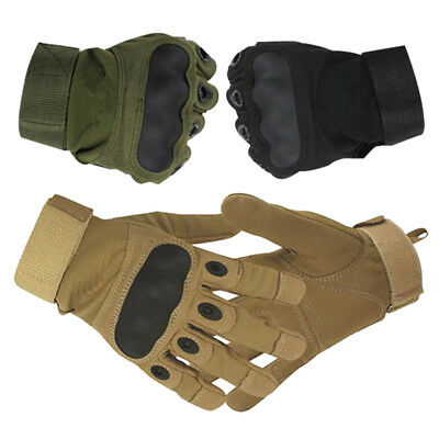 Tactical Leather All Weather Motorbike Motor Cycle Gloves Carbon Fiber Knuckle