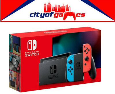 Nintendo Switch Neon Blue and Red Joy-Con Console Brand New In Stock Now