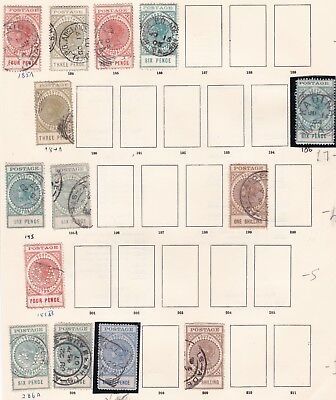 Australia States. South Australia 1902 - 1906  issues. Long Tom Issues Used.
