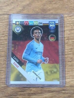 Leroy Sane 2019 Panini Adrenalyn Xl Fifa 365 German Star W/code#397