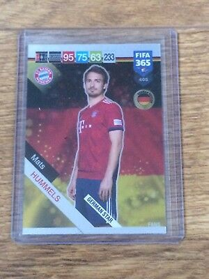 Mats Hummels 2019 Panini Adrenalyn Xl Fifa 365 German Star W/code#405