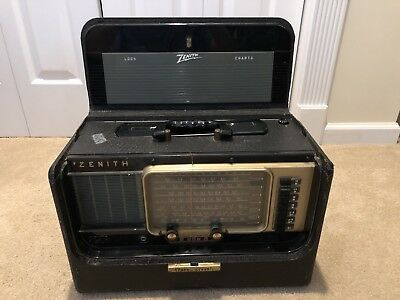 Vintage Zenith Transoceanic Wave Magnet Radio, Read Description
